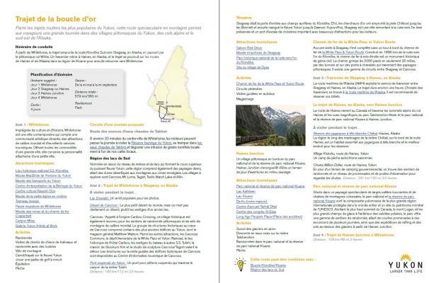 french sample itineraries